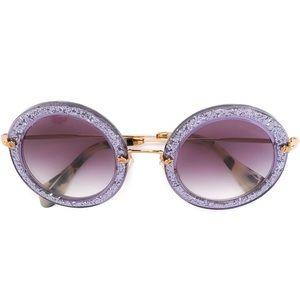 Miu Miu Purple Glitter Sunglasses (no case)